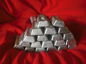 Lead ingots.  20 lbs wheel weight ingots hard lead sinkers bullets jigs molds