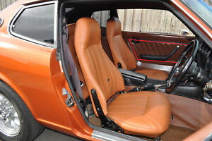 1970 1978 Datsun 240z 260z 280z Leather Replacement Seat Covers W Vertical Seams
