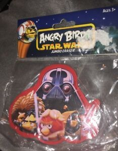 Angry Birds Star Wars Jumbo Eraser School Supplies Ages 3 New Vader