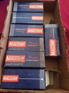 Lot Of 7 Mallory Capacitor Op670 370 Vac 6 Mfd
