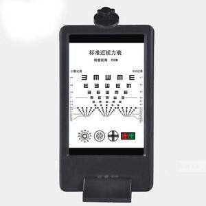 25cm Near Led Optical Visual Chart Lamphouse Optometry Tester Mini Vision Chart
