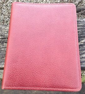 Vtg Day timer Pigskin Leather Planner 7 Ring Canada Approx 7 5 X 9 5