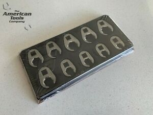 new Snap On 10 Pc 3 8 6 point Flank Drive Flare Crowfoot Wrench Set 210frhma