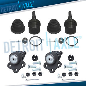 4pc Front Upper Lower Ball Joints 1997 1998 1999 Dodge Dakota Durango 4wd 4x4