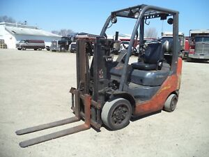 2009 2010 Toyota 8fgcu25 5 000 5000 Cushion Tired Forklift Trucker Special