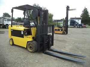 1998 Hyster E120xl 2 12 000 12000 Cushion Tired 48v Electric Forklift
