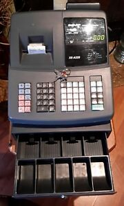 Sharp Electronic Cash Register Xe a22s With Key For Register And Drawer
