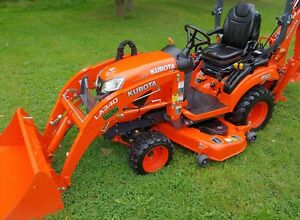 2017 Kubota Bx23s Diesel 4x4 Subcompact Tractor W Loader Backhoe Only 27hrs
