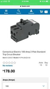 100 Amp Zinsco Replacement Breaker