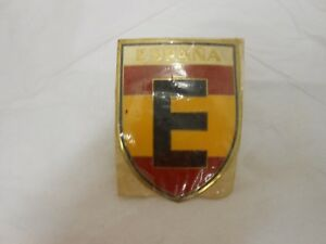 Vintage Automobile Grill Badge Spain Espana New In Original Wrapper