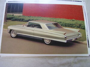 1962 Cadillac Coupe De Ville Color 11 X 17 Photo Picture