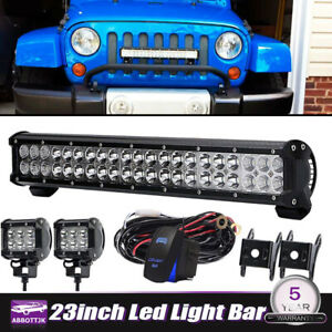 23 Led Light Bar For Kit Skid Steer Loader New Holland Case John Deere Bobcat