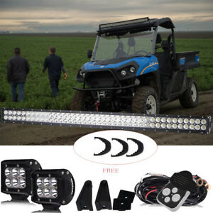40 Led Light Bar 2x Cube Pods For Ford new Holland Rustler 850 Utility Vehicle