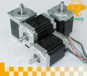 Usa Free Ship 4pcs 57bygh Nema34 Stepper Motor 1232oz 5 6a 4wires For Cnc Kits