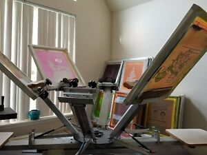 6 Color 2 Station Screen Printing Press And Equipment