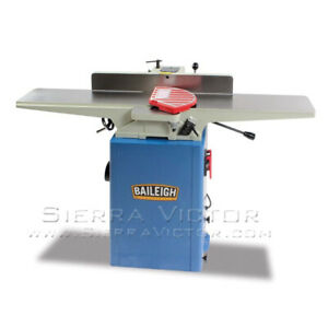 Baileigh Wood Jointer With Spiral Cutter Head Ij 655 hh