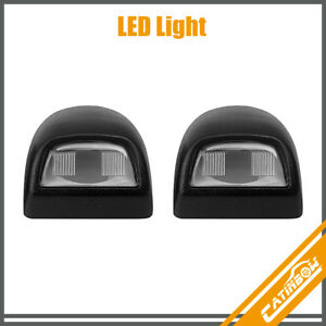 2 Rear License Plate Light Lamp Lens For Chevy Silverado Sierra Pickup Escalade