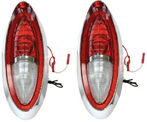 1954 Full Size Chevy Bel Air 210 Nomad Tail Lamp Light Assembly Pair Rh Lh Dii