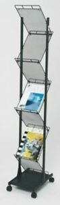 Mobile Literature Display Stand 2 Sided 7 X A4 Dr1004