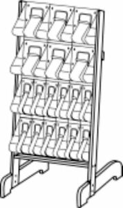 A4 X 6 12 X Dle Literature Floor Standing Easel Display 58941