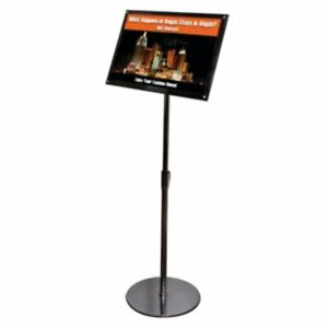 A3 Clear black Acrylic Sign Holder Floor Stand 790645