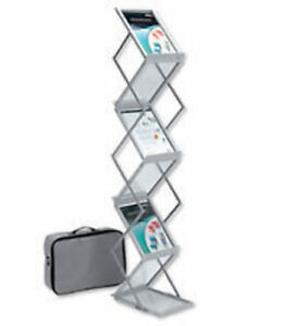 Mobile Literature Display Stand 2 Sided 6 X A4 Dr1003