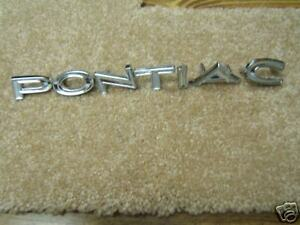 1966 New Gto Tail Panel Letter Emblems 66 Also Fits 1968 Lemans
