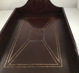 Mount Vernon Letter Tray Leather Desk Office Accessory
