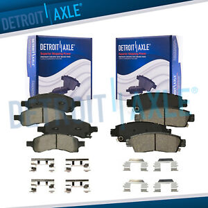 For Buick Enclave Chevy Traverse Acadia Outlook Front Rear Ceramic Brake Pads