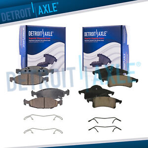 Front Rear Ceramic Brake Pads For 1999 2000 2001 2002 Jeep Grand Cherokee
