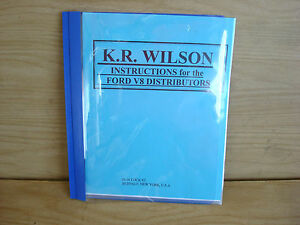 K R Wilson Distributor Instructions For Flathead Ford V8 1932 1948 Buy It Now