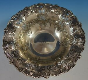 Broom Corn By Tiffany Co Sterling Silver Fruit Bowl Chased Pierced 2802