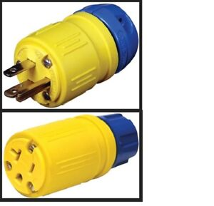 Ericson 1510 p Or 1610 c Perma link 15 Amp 125v Industrial Plug Or Connector New