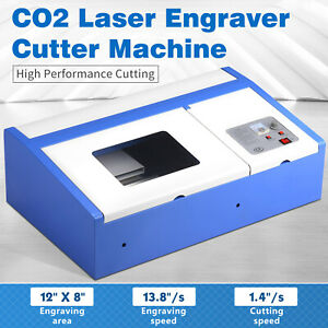 40w 12 x8 Usb Co2 Laser Engraving Cutting Machine Commercial Engraver Cutter