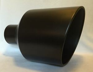 5 Inlet 12 Outlet 18 Long Flat Black Diesel Exhaust Tip Chevy Duramax