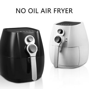 4 4qt Electric No Oil Air Fryer Timer Temperature Control With 6 Cooking Presets