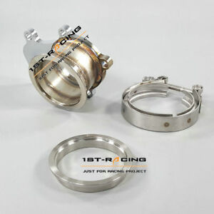3 Turbo Downpipe Flange V band Adaptor Kit For Cummins Holset Wh1c Hx35 Hx35