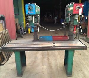Powermatic Dual Drill Press T slot Table Table Base Approx L 7 x W 38 x H 62