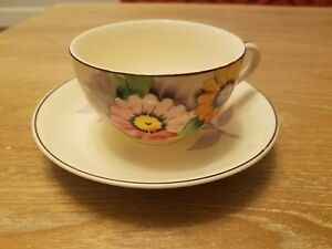 Antique Tea Cup And Saucer Set Made In Japan