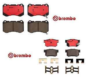 Pair Set Of Front And Rear Disc Brake Pads Ceramic Brembo For Acura Tl 2004 2008