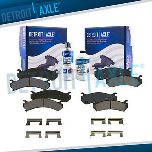 Front Rear Ceramic Brake Pad Kit W Hardware Silverado Sierra 1500hd 2500 3500