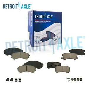 Front Rear Ceramic Brake Pads For 2004 2008 2010 2011 Endeavor 01 06 Montero