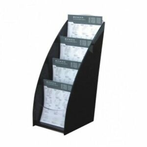 A4 4 Pocket leaflet Brochure Holder Deluxe Series Free Standing Wall Mou