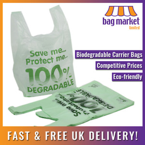 2000 X Large Biodegradable Carrier Bags 11 X 17 X 21 Shopping plastic eco