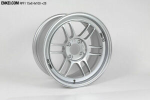 Enkei Rpf1 15x8 4x100 28mm Silver Wheel 3795804928sp