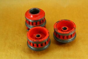 Lot Of 3 Ridgid 12 r Ratching Die Heads 1 4 3 8 1 1 4