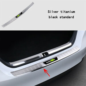 1x Car Outer Rear Bumper Sill Plate Guard Protector Cover For Toyota Camry Xv70