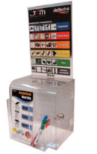 Ballot Box Clear Wall Mount With Key Lock Sign Holder 86111