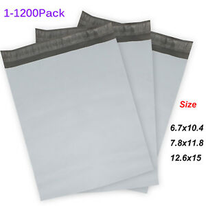 Poly Mailers plastic Envelopes White gray Shipping Mailing Bags 2 4mil 2018 Us
