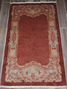 Vintage Chinese Nichols Wool Rug 3x5ft